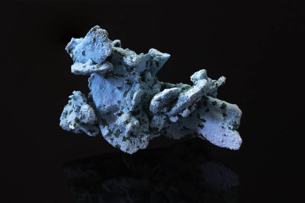 CHRYSOCOLLA PSEUDOMORPH AFTER AZURITE, MALACHITE